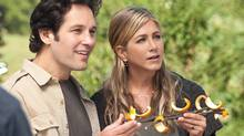 """Paul Rudd and Jennifer Aniston in a scene from """"Wanderlust."""" (AP/Universal Pictures)"""