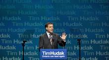Ontario Progressive Conservative Leader Tim Hudak delivers the keynote address at the party's annual general meeting in Ottawa on March 6, 2010. (Pawel Dwulit)