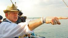 Director Richard Curtis on the set of his rock and roll comedy PIRATE RADIO, an Alliance Films release.