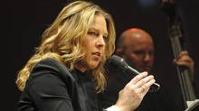 Canadian jazz pianist and singer Diana Krall performs during her concert at the Congress Hall in Warsaw, Poland, Sunday, Nov. 11, 2012. (Alik Keplicz/AP)