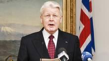 Iceland President Olafur Grimsson (STR)