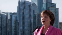 British Columbia Premier Christy Clark speaks in Vancouver, B.C., on March 18, 2016. (DARRYL DYCK/THE CANADIAN PRESS)