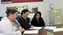 Michelle Durant-Dudley, middle, operates an adult education class for natives. (Howard Archibald for The Globe and Mail)