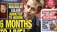 The infamous tabloid has offered Macaulay Culkin a drug test. National Enquirer tabloid magazine cover featuring Macauly Culkin.