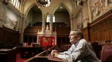 August 16, 2006: Senator Michael Kirby seats in the Senate Chamber. He is retiring from the Senate later this year. (Dave Chan/The Globe and Mail)