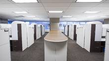 An office space in downtown Calgary sits empty and furnished waiting for a new tenant. Canada's real estate industry is bracing for a difficult year as low oil prices, a glut of office and retail supply, and skittish investors drive down demand for commercial space and hamper enthusiasm for new condos. (Chris Bolin For The Globe and Mail)