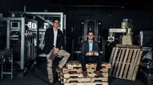 "Alexandre Leclerc and Antoine Bisson founded Poka, a social platform for manufacturers to train staff using videos and other interactive content to be shared in real time through an iPad app. Poka claims its technology is helping to drive ""the social industrial revolution."" (Poka)"