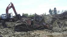 A recovered 2009 Case IH Steiger 485 tractor. (RCMP handout)
