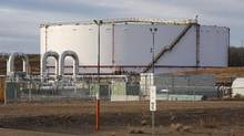 TransCanada's Keystone pipeline facilities are seen in Hardisty, Alta., on Friday, Nov. 6, 2015. TransCanada Corp.'s move to lower tolls for its Mainline pipe raises the competitiveness of Canadian natural gas for the near future, but access to Asian markets is the key to the long-term survival of the landlocked industry, industry insiders say. (Jeff McIntosh/The Canadian Press)