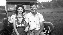 In this September, 1941, photo provided by Dick Felumlee, Kenneth and Helen Felumlee pose for a photo nearly three years before their marriage in February, 1944. The Felumlees, who celebrated their 70th wedding anniversary in February, died 15 hours apart from each other last week. (THE ASSOCIATED PRESS)