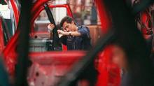 An assembly line in Mexico. Brazil and Mexico have ended a tense standoff over autos, with Mexico agreeing to cut its exports to Brazil in order to keep its preferential tariff status. (Dario Lopez Mills/Associated Press/Dario Lopez Mills/Associated Press)