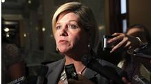 Provincial NDP Leader Andrea Horwath responds to comments made by Premier Dalton McGuinty about the Ontario Lottery Scandal at Queen's Park in Toronto on Tuesday September 1, 2009. (Colin O'Connor/The Canadian Press/Colin O'Connor/The Canadian Press)