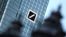 This file photo taken on Jan. 28, 2016 shows the headquarters of Germany's biggest lender Deutsche Bank in Frankfurt. (DANIEL ROLAND/AFP/Getty Images)