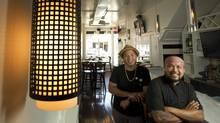 Les Sabilano, left, and Rudy Boquila of Lamesa Filipino Kitchen (Kevin Van Paassen/The Globe and Mail)