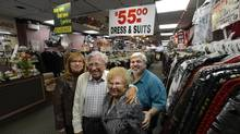 After 56 years selling clothing on Bloor St. West, The Markus family will be closing their doors this month. (Fred Lum/The Globe and Mail)