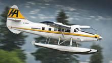A Harbour Air floatplane comes for landing into Vancouver's Coal Harbour June 3, 2010. (JOHN LEHMANN/JOHN LEHMANN/GLOBE AND MAIL)