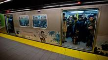 With population rising and funding stagnant, trains will get more crowded on the Canada Line and other routes. (DARRYL DYCK For The Globe and Mail)