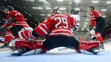 Canada's goaltender Mackenzie Blackwood will get his first real test of the world junior championship against Sweden after missing the first two games of the tournament due to a suspension. (Sean Kilpatrick/THE CANADIAN PRESS)