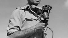 CBC war correspondent Peter Stursberg was named one of six reporters to go overseas to cover the Second World War in North Africa and later, Italy and northwestern Europe.