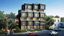 Cabin, by Curated Properties, is a six-storey townhouse project that will have 25 units that range from one- to three-bedrooms.
