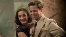 Brad Pitt plays Max Vatan and Marion Cotillard plays Marianne Beausejour in Allied from Paramount Pictures. (Daniel Smith)