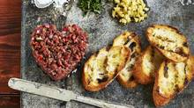 Beef-heart tartare. Food styling by Heather Shaw/Judy Inc. (Edward Pond for The Globe and Mail)