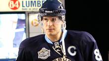 Sidney Crosby of the Pittsburgh Penguins walks out to the ice before the 2011 Winter Classic against the Washington Capitals at Heinz Field on January 1, 2011 in Pittsburgh, Penn. (Jamie Squire/Jamie Squire/Getty Images)