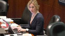 TTC chair Karen Stintz said she has seen the crib notes defending the deal, but was not sent them directly and did not know they were being prepared. (Chris Young For The Globe and Mail)