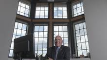 Interim University of Saskatchewan president Gordon Barnhart poses for a photograph in his office on the U of S campus in Saskatoon, SK, May 27, 2014 (Liam Richards/Photo Liam Richards)