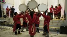 A high school choir performs in Iqaluit earlier this year. (National Arts Centre)