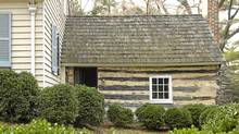 This cabin in Maryland was believed to have been the home of Josiah Henson, the slave whose memoir inspired Harriet Beecher Stowe to write Uncle Tom's Cabin. However, the news came out this week that Mr. Henson never lived in the cabin. (JONATHAN ERNST/Reuters/JONATHAN ERNST/Reuters)