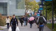Students walk on campus at the University of British Columbia in Vancouver, B.C., on Sept. 2, 2015. UBC is set to vote on a new sexual misconduct policy in the wake of allegations it mishandled complaints against a history PhD student and former creative writing chairman Steven Galloway. (DARRYL DYCK For The Globe and Mail)