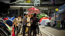 Filmmaker Christopher Doyle included footage from last year's pro-democracy Umbrella Movement protests in Hong Kong in the Hong Kong Trilogy.