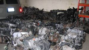 An illegal chop shop in Toronto, crammed with stolen motor engines, doors and other car body parts, was dismantled with help from the Ontario Provincial Police.