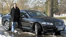 Author Mark Billingham with his Jaguar XJ. (Randy Quan/Randy Quan for The Globe and Mail)