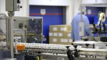 An August 2010 file photo shows Drug manufacturing at GlaxSmithKline Canada's Mississauga facility. (Fred Lum/The Globe and Mail)