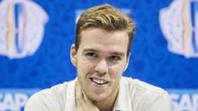 At 19, Edmonton Oiler Connor McDavid is the youngest player to be named captain of an NHL team. (Mark Blinch/THE CANADIAN PRESS)