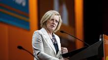 Alberta Premier Rachel Notley gives a speech during the 2016 NDP Federal Convention in Edmonton on Saturday, April 9, 2016. (CODIE MCLACHLAN/THE CANADIAN PRESS)