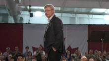 """Prime Minster Stephen Harper speaks to party supporters during a Conservative Party event in Saskatoon on Wednesday July 30, 2014. A survey was circulated Tuesday to Conservative donors and """"grassroots supporters,"""" to """"hear what issues matter to you the most."""" Under a section entitled """"I stand with the Conservative Party on the following issues,"""" the members are asked to check off those that apply. """"Respecting traditional family values,"""" is one of the options, although it's not clear what that means. (Liam Richards/THE CANADIAN PRESS)"""