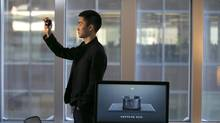 Simon Tian, Founder and CEO of hardware startup Neptune, poses in their offices with their new Neptune Duo device, in Montreal, February 16, 2015. (Christinne Muschi/The Globe and Mail)