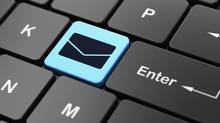 Business concept: Email on computer keyboard background (maxkabakov/Getty Images/iStockphoto)