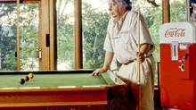 Mordecai Richler played snooker to win. Even against his children. (Joy von Tiedemann)