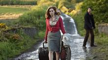 Amy Adams as Anna, and Matthew Goode as Declan, trek across the Irish countryside in Leap Year. (Photo Credit: Jonathan Hession/Copyright: © 2009 Universal Studios. ALL RIGHTS RESERVED.)