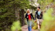 Walking gives couples a chance to get some exercise and talk about their worries at the same time. (THINKSTOCK)