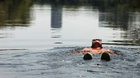 Alan Hillman cools down in the Rideau River Tuesday, July 16, 2013 in Ottawa.