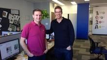Jamie Schneiderman and Ben Baldwin, co-founders of ClearFit (Fabien Barrillo)