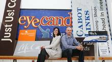 Allison Moz and partner Jake Ethridge own Eyecandy Signs in Halifax. (PAUL DARROW For The Globe and Mail)