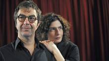 Atom Egoyan and Arsinee Khanjian on the set of Cruel and Tender. (Fred Lum / The Globe and Mail)