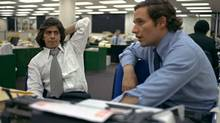 "Reporters Bob Woodward, right, and Carl Bernstein, whose reporting of the Watergate case won a Pulitzer Prize, sit in the newsroom of the Washington Post, May 7, 1973. W. Mark Felt, a former FBI official claims he was ""Deep Throat,"" the long-anonymous source who leaked secrets about President Nixon's Watergate coverup to The Washington Post, Vanity Fair reported Tuesday May 31, 2005. (AP)"