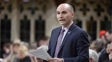 Minister of Families, Children and Social Development Jean-Yves Duclos has been monitoring the debate on guaranteed minimum income, a spokesperson says. (Adrian Wyld/THE CANADIAN PRESS)